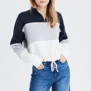 AE cropped color-block sweater